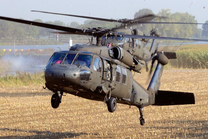 Hélicoptères de l'armée américaine photo stock