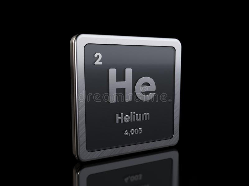 Hélio Ele, símbolo de elemento da série de tabelas periódicas ilustração royalty free