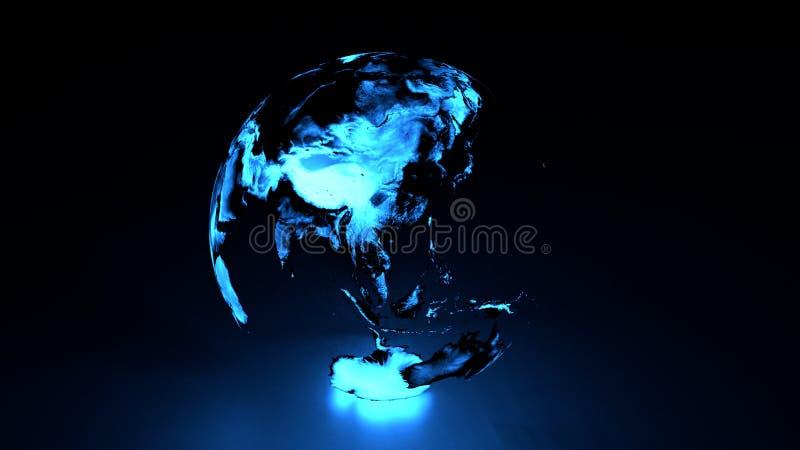 Hémisphère oriental de la terre olographe illustration libre de droits
