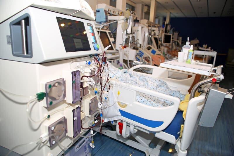 Hémodialyse - remplacement de fonction rénale photo stock