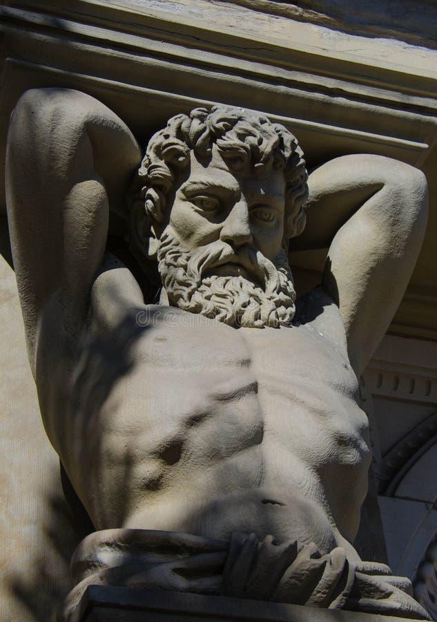 Hércules en piedra fotografía de archivo
