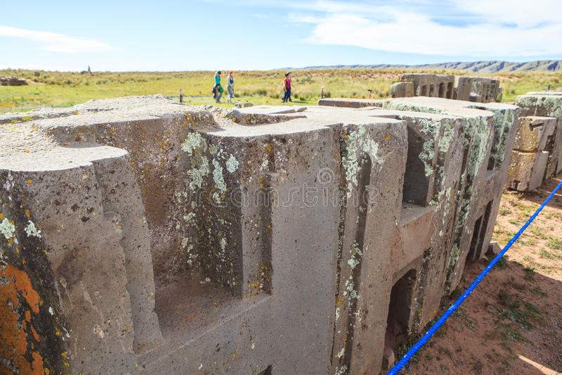 Héritage de Tiwanaku en Bolivie image libre de droits