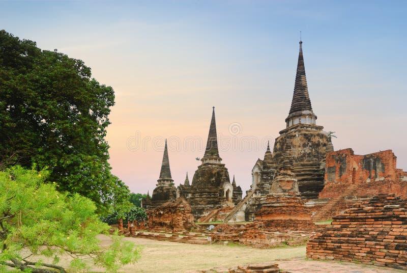 Héritage de Wat Phra Sri Sanphet Thai, Ayutthaya, Thaïlande images stock