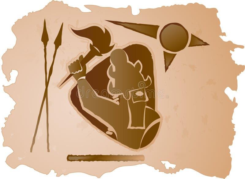Héroe ilustración del vector