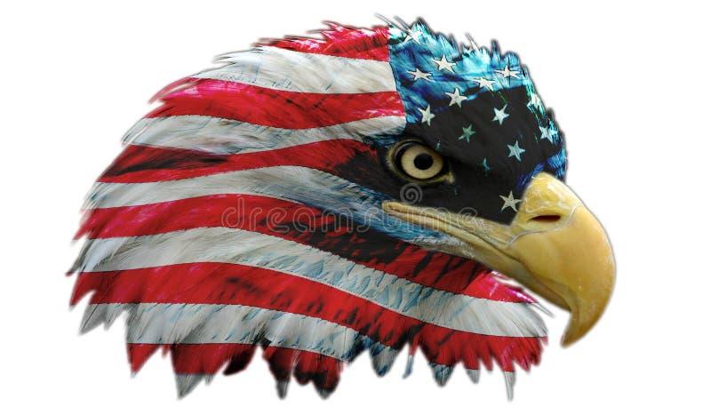 Héroe americano verdadero stock de ilustración
