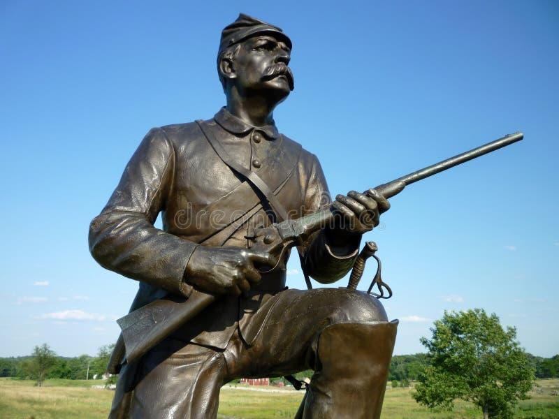 Héroe de la guerra civil de la unión fotografía de archivo libre de regalías