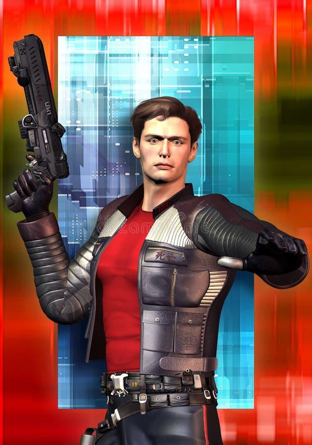 Héroe del espacio de la ciencia ficción libre illustration