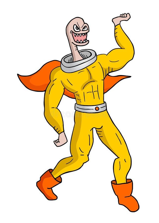 Héroe extraño ilustración del vector