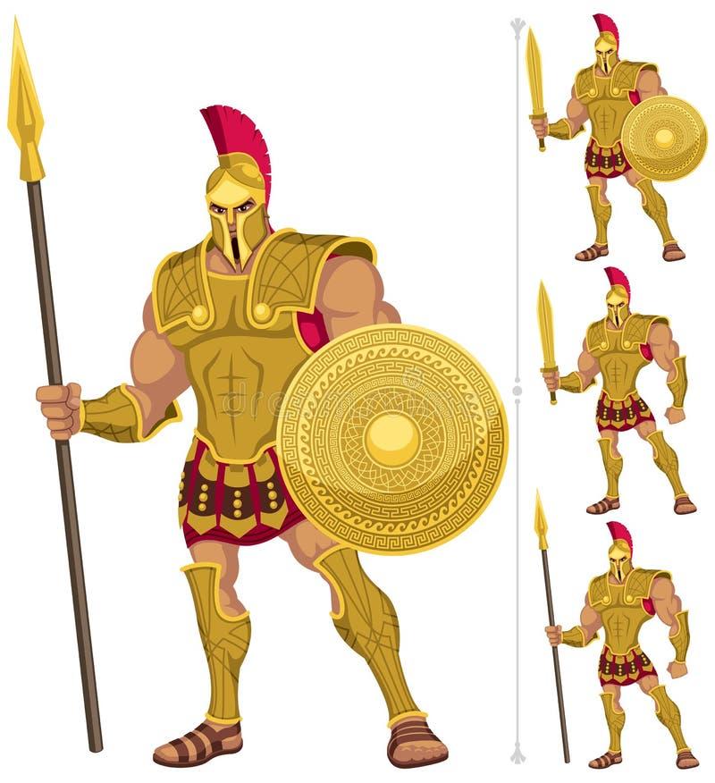 Héroe griego ilustración del vector