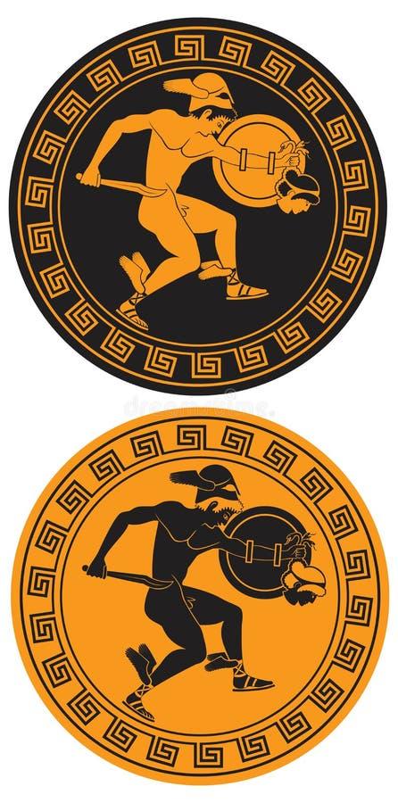 Héroe mítico Perseus ilustración del vector