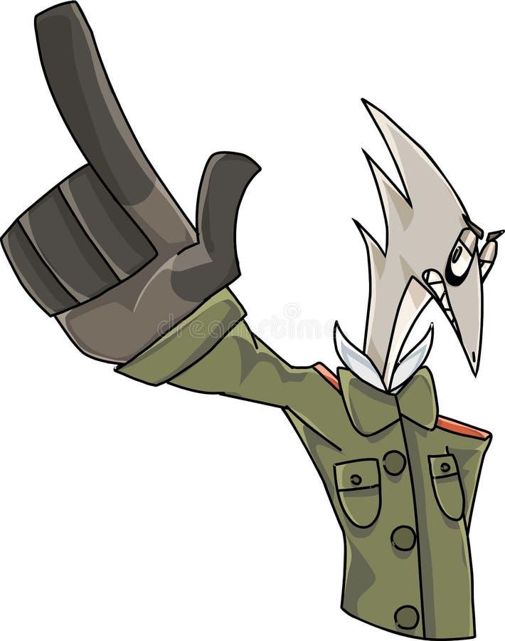 Héroe militar ilustración del vector