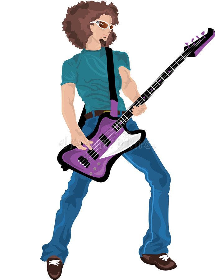 Héros de guitare illustration libre de droits