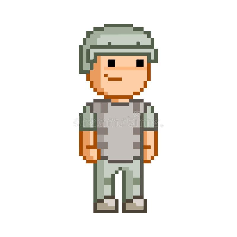 Héros de pixel de bit du vecteur 8 pour la conception illustration de vecteur