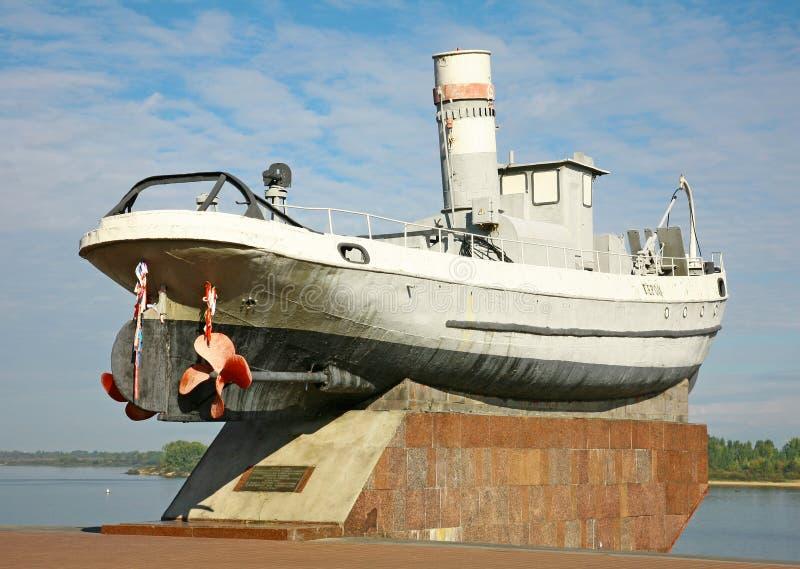 Héros légendaire de bateau dans Nijni-Novgorod photographie stock