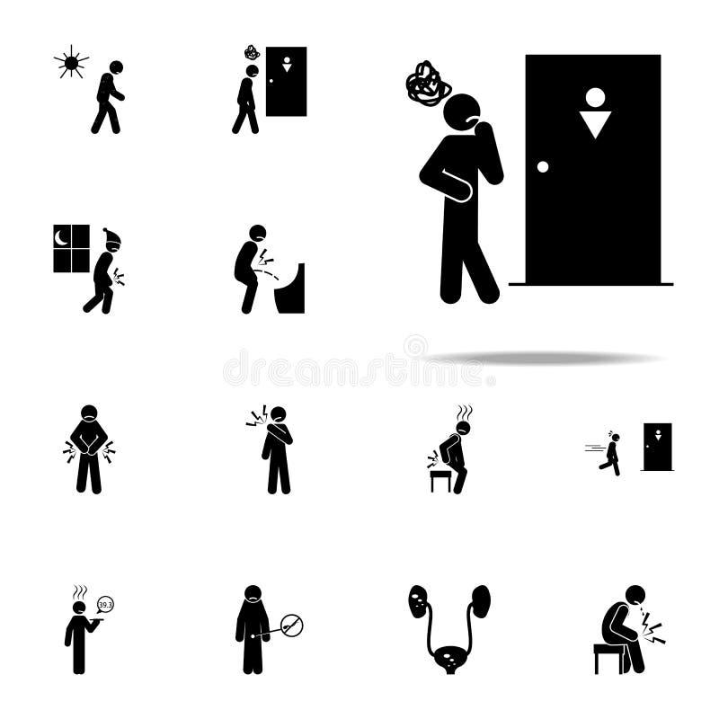 hésitent, l'hésitation, icône de problème Ensemble universel d'icônes de personnes de douleur pour le Web et le mobile illustration libre de droits