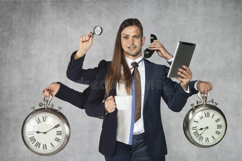 Híbrido do negócio, combinação de homem de negócios e de mulher de negócios fotos de stock royalty free