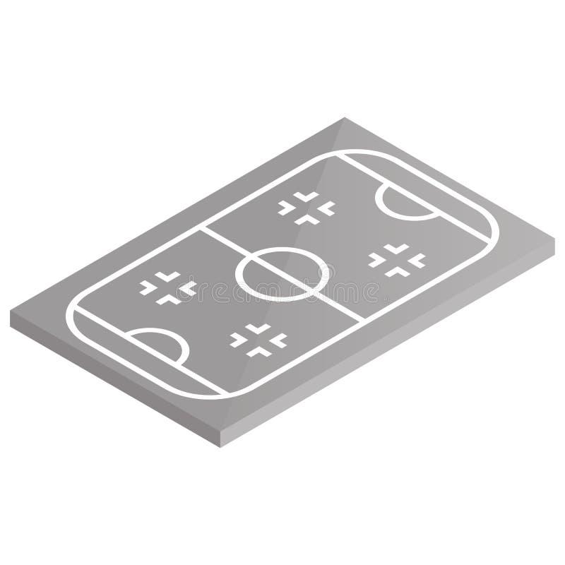 Hóquei em gelo em isométrico, ilustração do campo de jogos do ícone do vetor ilustração royalty free