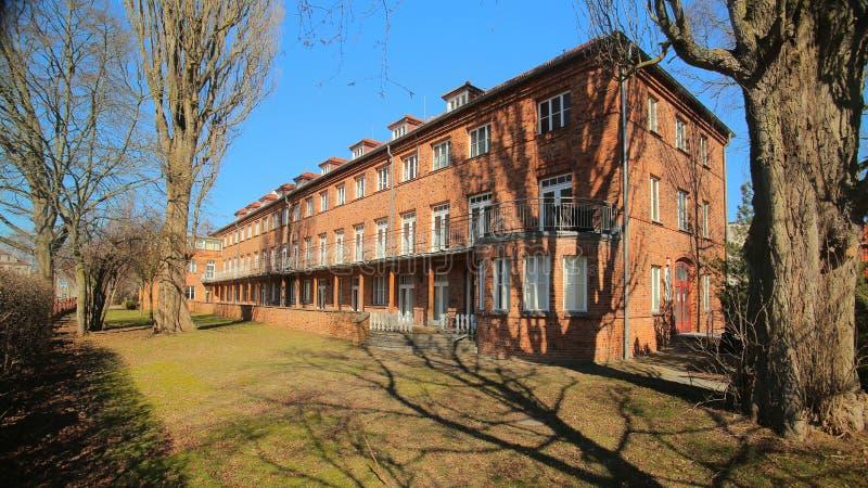 Hôpital historique, énuméré comme monument dans Greifswald, l'Allemagne images libres de droits