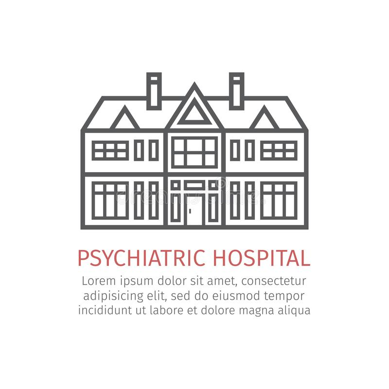 Hôpital psychiatrique Graphisme de vecteur illustration de vecteur
