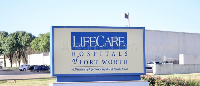 Hôpitaux de soins à vie de Dallas image stock