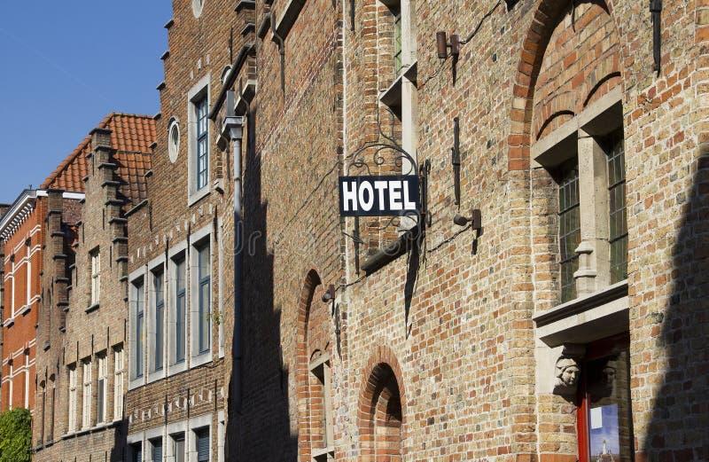 Hôtel à Bruges, Belgique photo stock