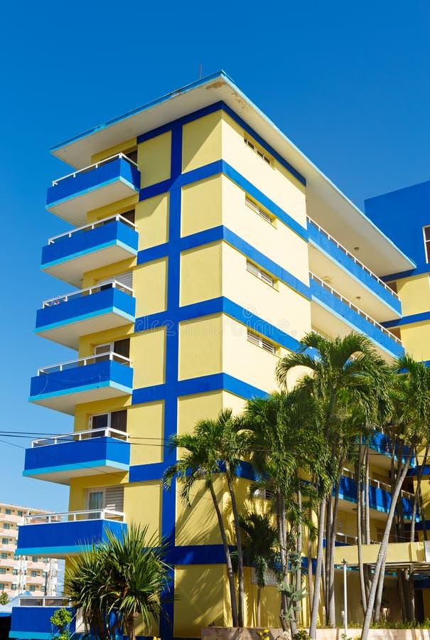 Hôtel à un lieu de villégiature au Cuba photo stock