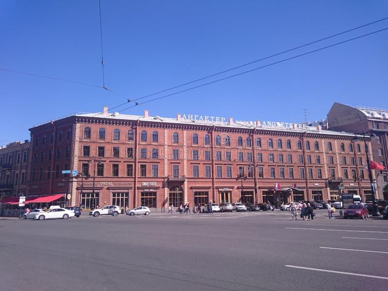 Hôtel Angleterre, l'endroit de la mort du poète Sergei Yesenin, St Petersburg, Russie images stock