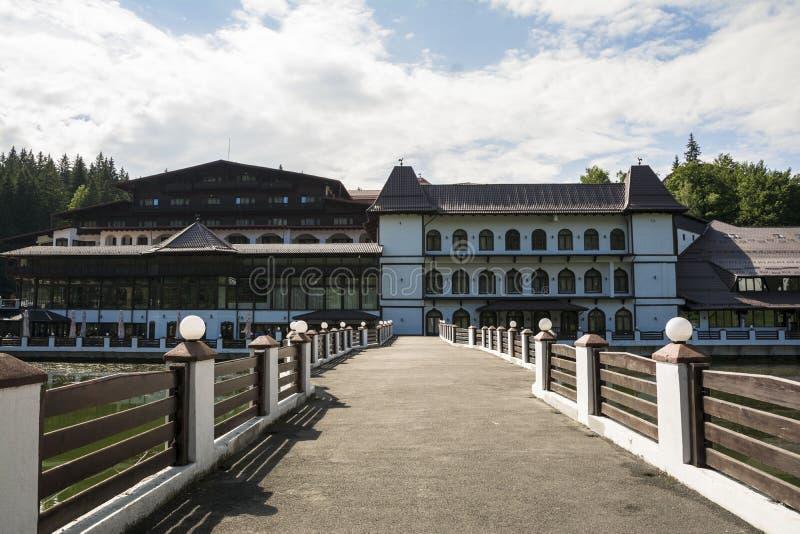 Hôtel Aurelius, symbole de station de vacances de Poiana Brasov en Roumanie image libre de droits