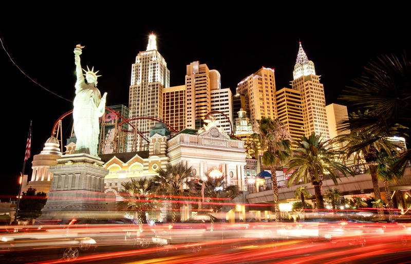 Hôtel-casino de New York à Las Vegas images libres de droits