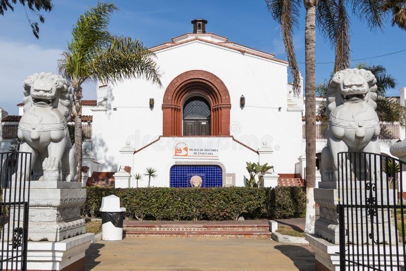 Hôtel-casino historique Playa Ensenada/centre culturel de la Riviera photographie stock