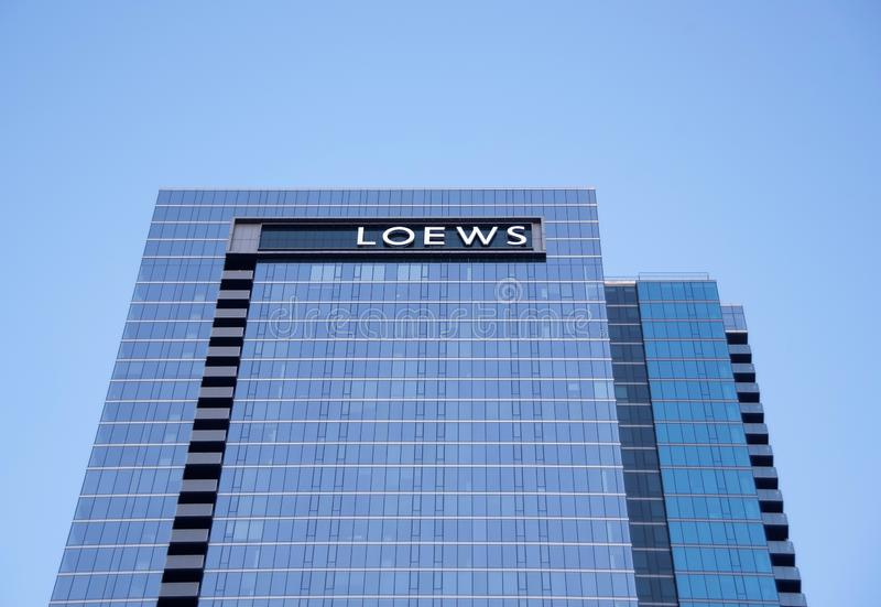 Hôtel Chicago, l'Illinois de Loews photos libres de droits