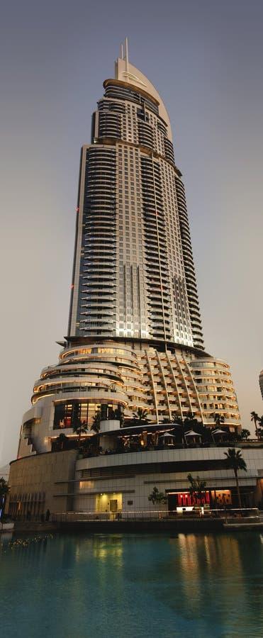 Hôtel d'adresse à Dubaï photographie stock libre de droits