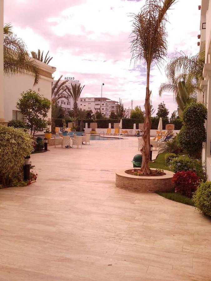 Hôtel d'Agadir Palm Beach photos libres de droits
