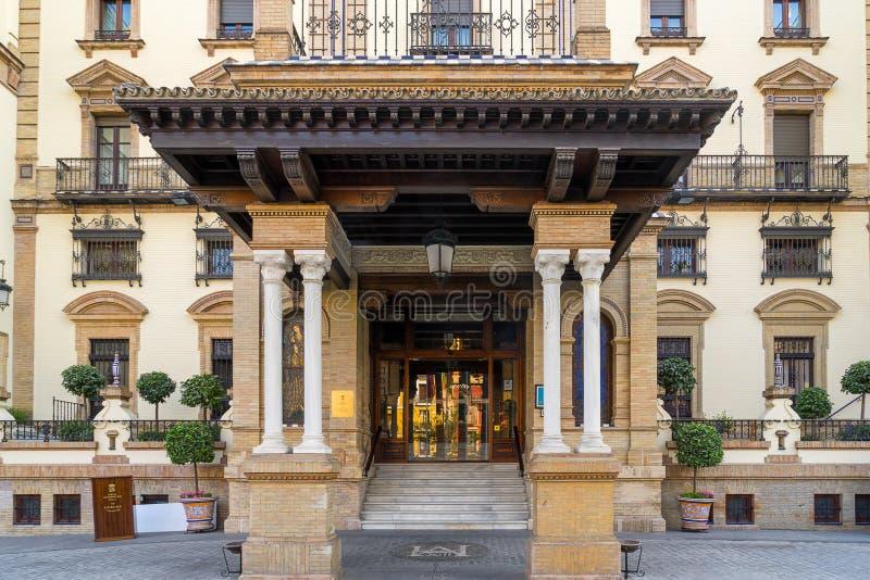 Hôtel d'Alfonso XIII en Séville photos libres de droits
