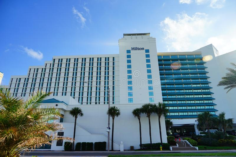 Hôtel d'oceanview de Hilton photographie stock