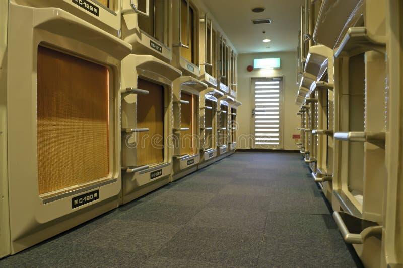 Hôtel de capsule japonais photographie stock