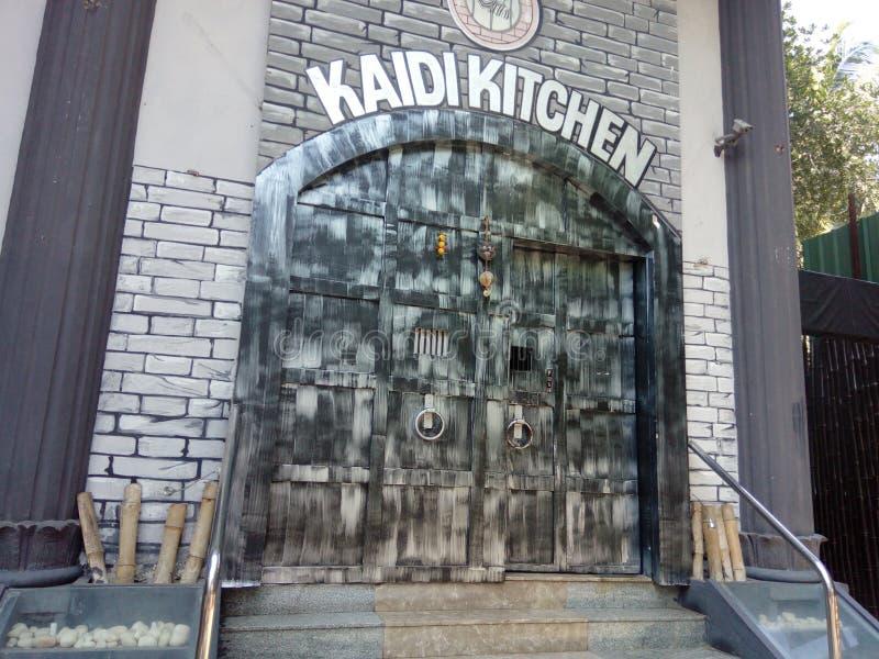 Hôtel de cuisine de Kaidi dans l'Inde de Chennai photographie stock libre de droits