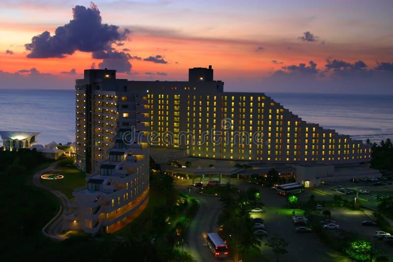 Hôtel de la Guam au coucher du soleil photo libre de droits