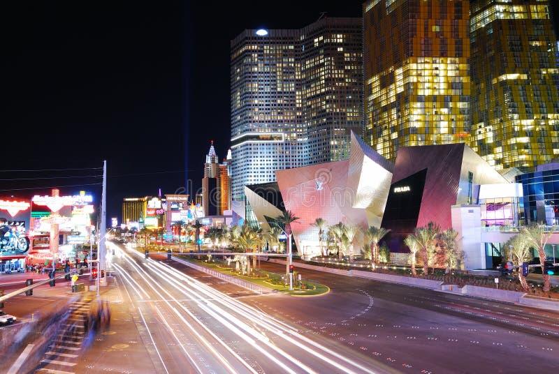 Hôtel de luxe dans la bande de Las Vegas images libres de droits