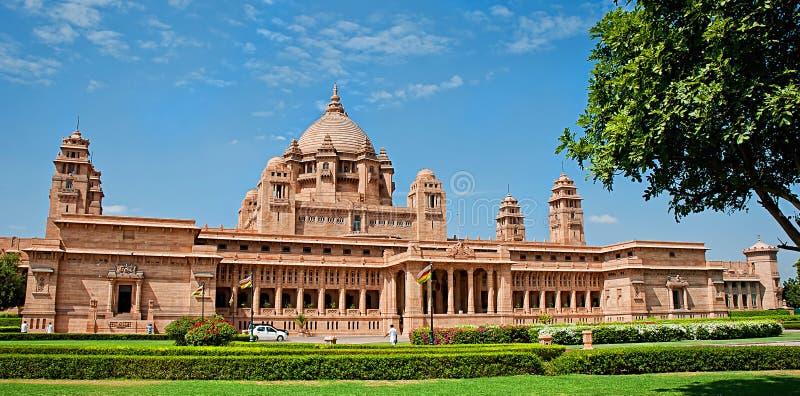 Hôtel de palais d'Umaid Bhawan à Jodhpur au Ràjasthàn, Inde Panora images stock