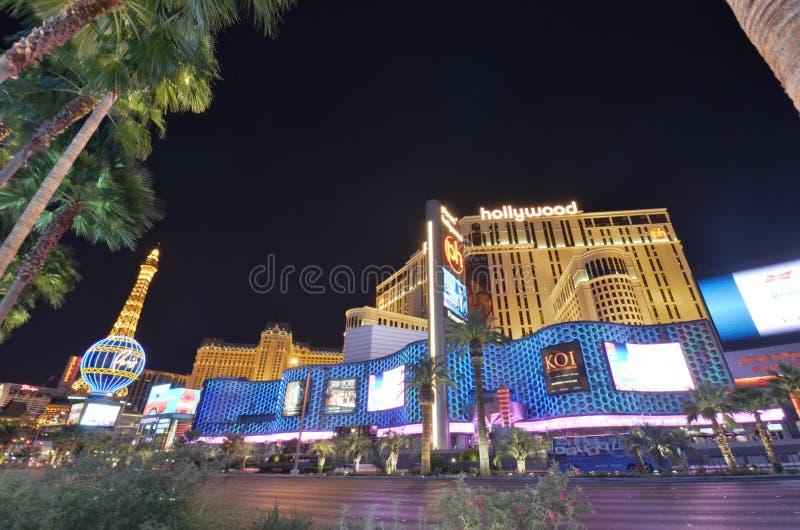 Hôtel de Paris et casino, Las Vegas, point de repère, parc d'attractions, attraction touristique, nuit image stock