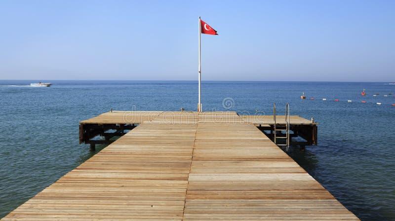 Hôtel de plage de pilier. photo stock