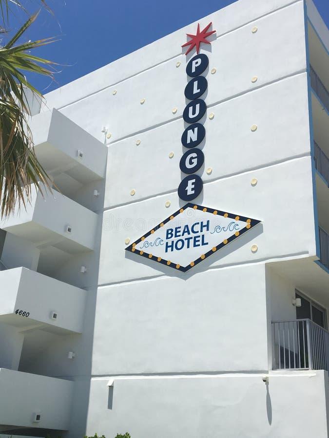Hôtel de plage de plongeon dans Lauderdale par la plage photo libre de droits