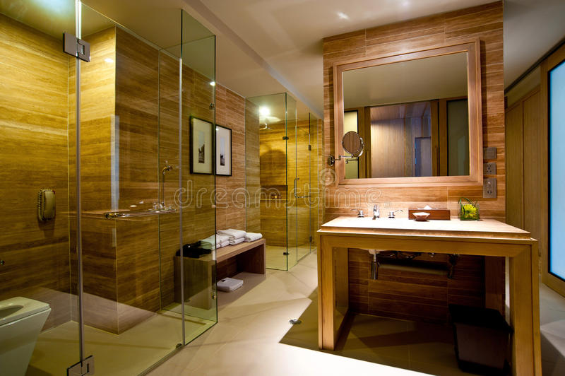 Hôtel de salle de bains photographie stock libre de droits