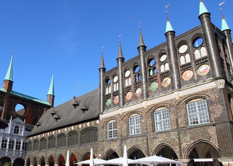 Hôtel de ville à Lübeck photos libres de droits