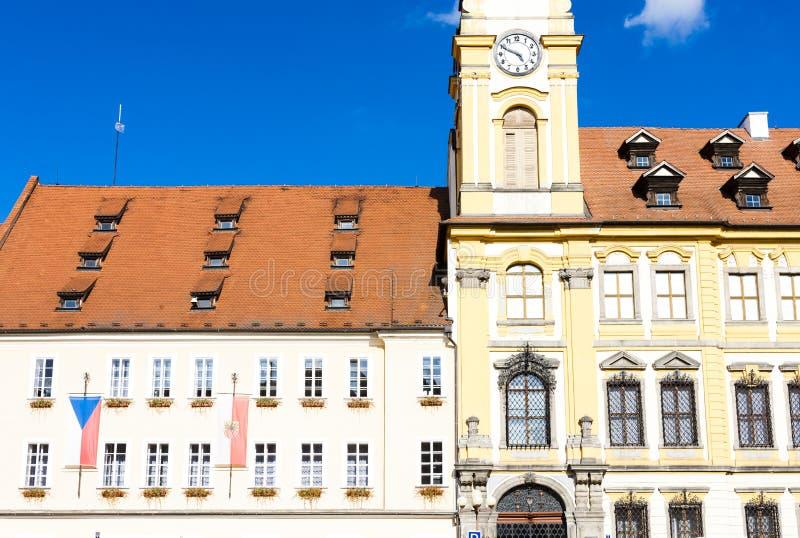 hôtel de ville de Cheb, République Tchèque photographie stock libre de droits