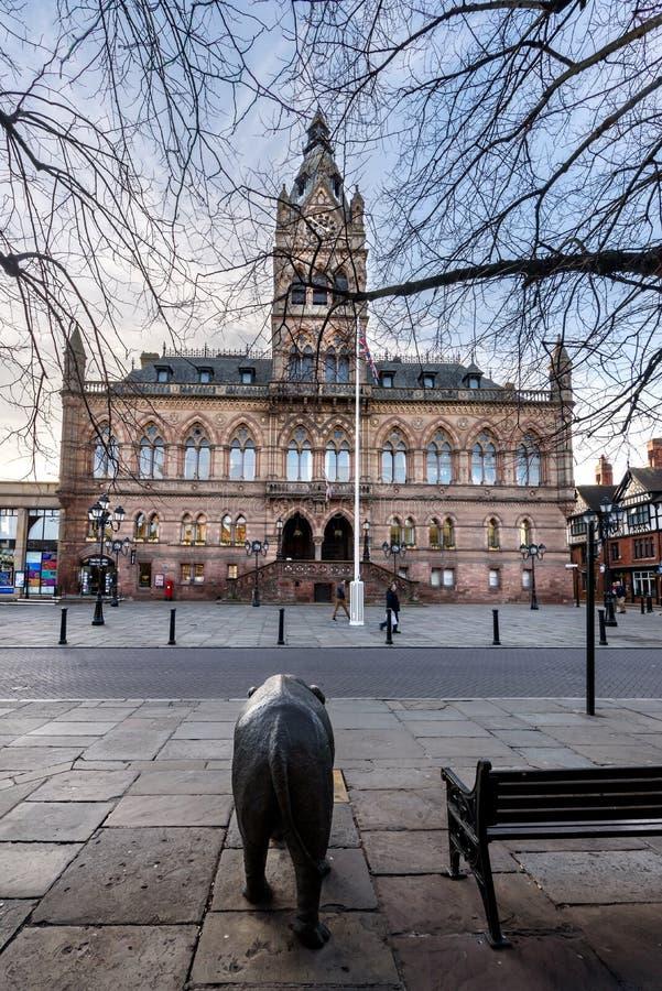 Hôtel de ville ville de Chester photo stock