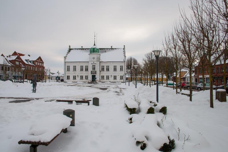 Hôtel de ville d'une ville danoise images stock
