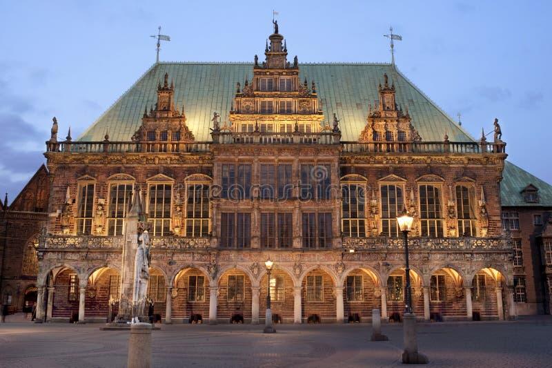 Hôtel de ville de Brême image stock