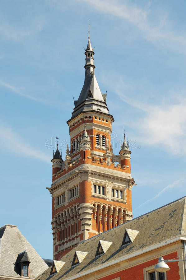 Hôtel de ville de Dunkerque, France photo stock